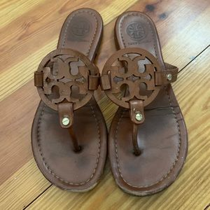 Tan Tory Burch sandals